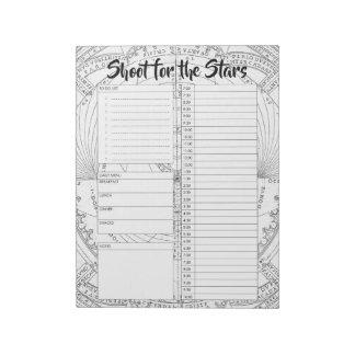 Custom Astronomy Daily Planner Organiser Notepad