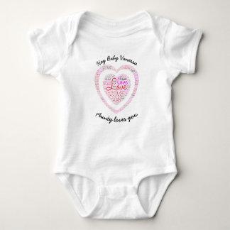 "Custom ""Aunty Loves Baby"" Jersey Bodysuit"
