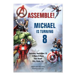Custom Avengers Birthday Card