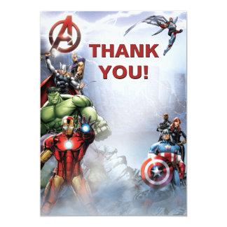 Custom Avengers Thank You Card