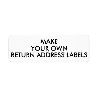 Custom Avery 6870 Return Address Labels