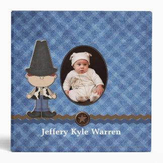 Custom Baby Boy s Western Theme Album Vinyl Binder