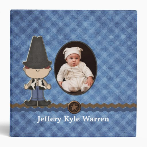 Custom Baby Boy's Western Theme Album Vinyl Binder