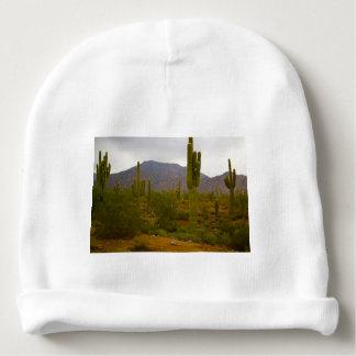Custom Baby Cotton Beanie Bright Sahuaro Cacti Baby Beanie