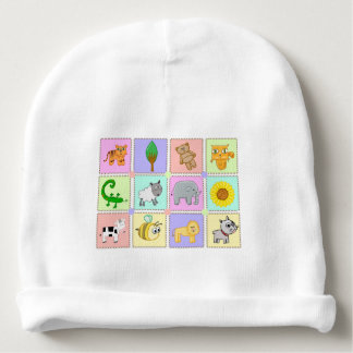 Custom Baby Cotton Beanie cartoon Baby Beanie