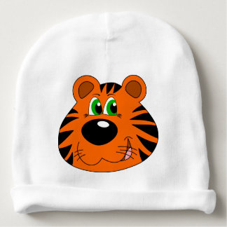 Custom Baby Cotton Beanie with tiger motive Baby Beanie