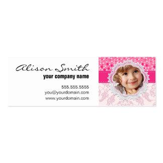 Custom baby girl face tarjeta de visita