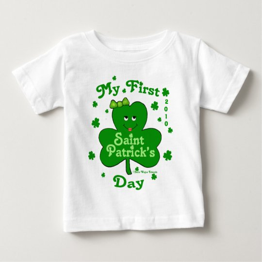Custom Baby Girl's First St. Patrick's Day Baby T-Shirt