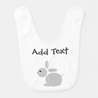 Custom Baby Rabbit baby bib perfect new born gift