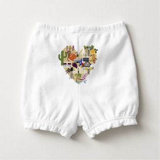 Custom Baby Ruffled Diaper Bloomers for Texas Baby Diaper Cover