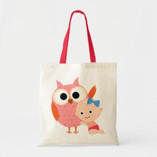 Custom Baby Shower/Birthday Owl Tote Bag