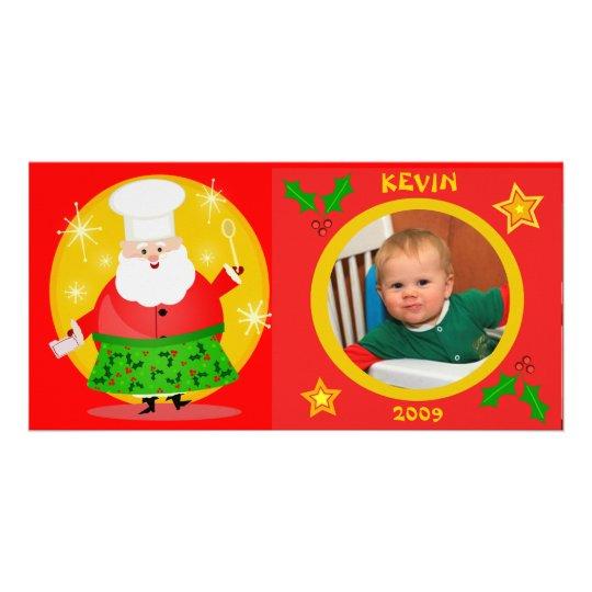 Custom Baby's Christmas Photo Card