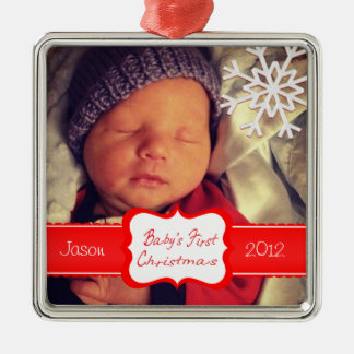 Custom Baby's First Christmas Ornament