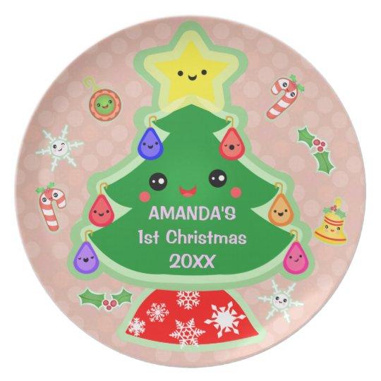 Custom Baby's First Christmas Plate