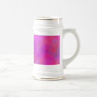 Custom Background Color Pink Cloud 18 Oz Beer Stein