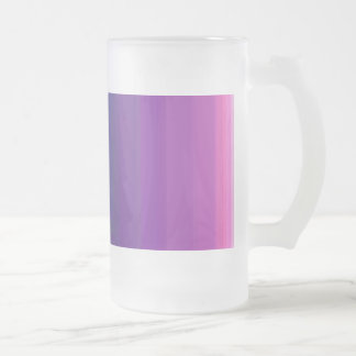 Custom Background Color Purple Core 16 Oz Frosted Glass Beer Mug