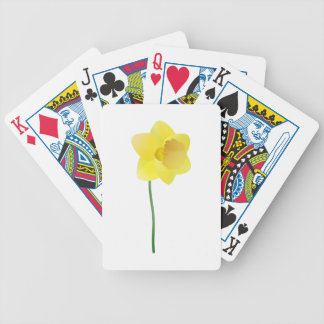 Custom background color - yellow daffodil flower bicycle playing cards