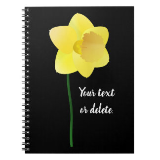 Custom background color - yellow daffodil flower notebook