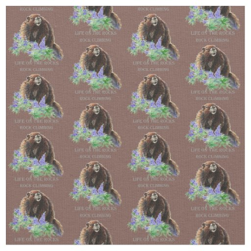 Custom Background Colour Rock Climbing Marmot Fabric