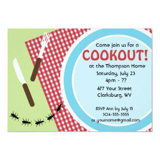 Custom Backyard Cookout Card