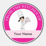 Custom Baking Label with Illustration Round Sticker