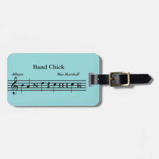 Custom Band Chick Music Instrument/Luggage Tag