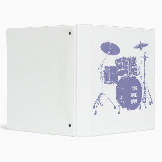 Custom band drum kit binder