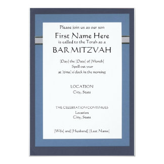 Custom Bar Mitzvah Invitations