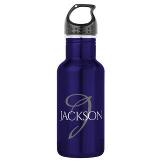 Custom Bar | Simple Classic Monogram Initial Name 532 Ml Water Bottle