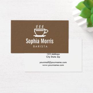 Custom barista coffee maker business card template