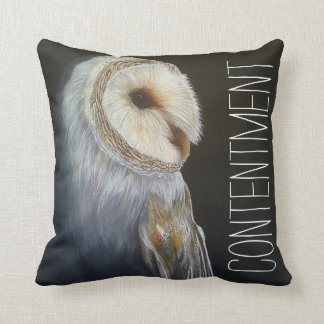 Custom Barn Owl Inspirational Quote Pillow