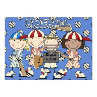 Custom Baseball  Birthday Invite (boys and girls)