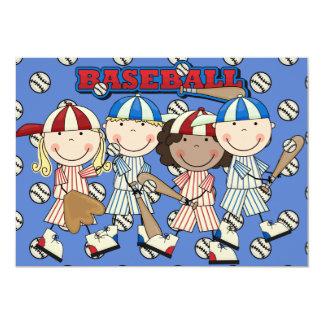 Custom Baseball  Birthday Invite (girls and boys)