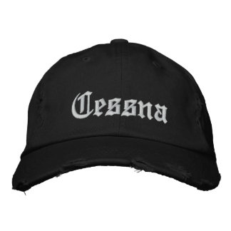 Custom Baseball Cap-CESSNA Embroidered Hat