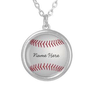 Custom Baseball Chram Necklace Add Your Name