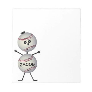 Custom Baseball Player Notepad