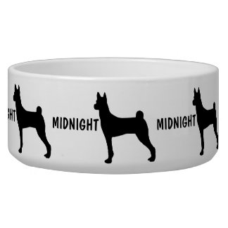 Custom Basenji Dog Bowl
