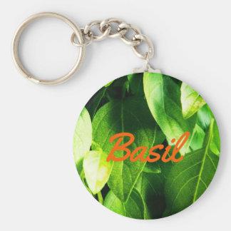 Custom Basil Leaves Keychain