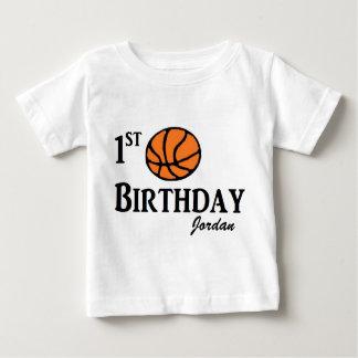 Custom Basketball First birthday shirt 1 year