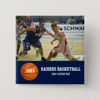 Custom Basketball Photos Player Team Name Year 2 Inch Square Button