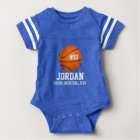 Custom Basketball Player & Team Name Jersey # Year Baby Bodysuit