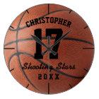 Custom Basketball Sport Name Number Personalizable Large Clock