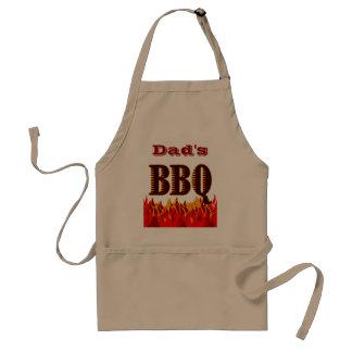 Custom BBQ Red Flames Apron