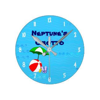 Custom Beach Ball Pool Toys Clock White Numbers