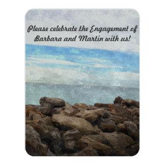 Custom Beach Scene Party Invitation
