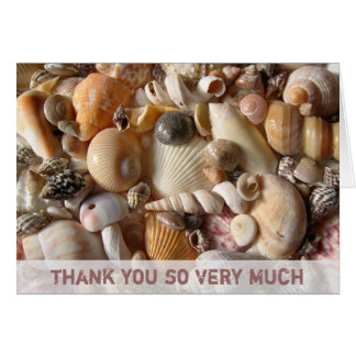 Custom Beach Shells Thank You Note Card
