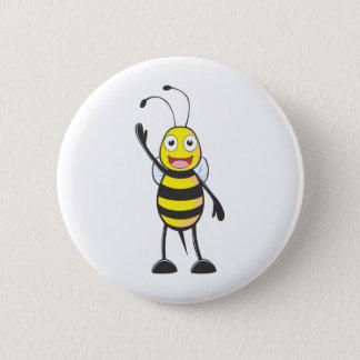 Custom Bee Waving His Hand 2 Inch Round Button