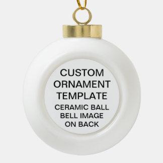 Custom BELL Ceramic Ball Christmas Tree Ornament