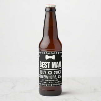 Custom Best Man Beer Bottle Label