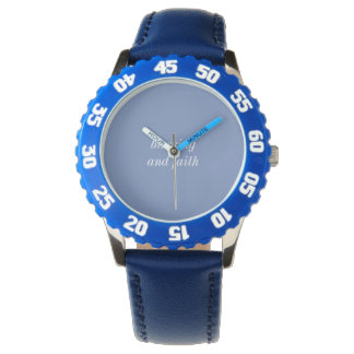 custom bezel with blue numbers watch